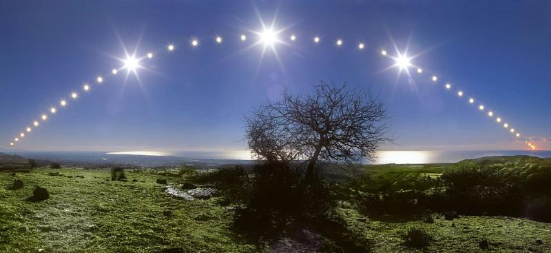 Mar Tirreno y cielo de solsticio