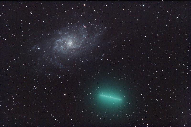 Una galaxia no es un cometa