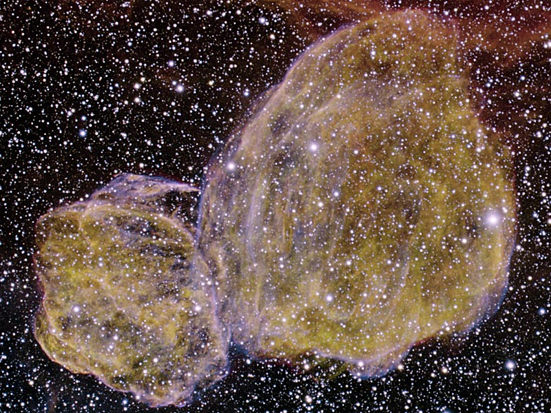Doble remanente de supernovas DEM L316