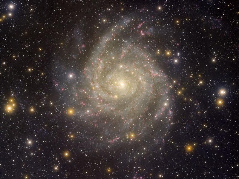 Skrytá galaxie IC 342 z Kitt Peak
