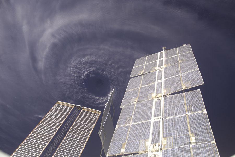 El huracán Iván desde la Estación Espacial