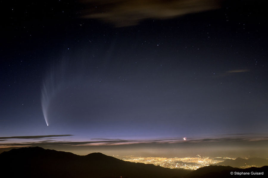 El cometa McNaught sobre Chile