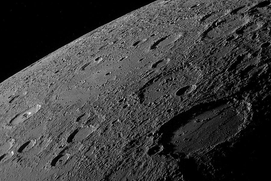 El horizonte de Mercurio desde la MESSENGER