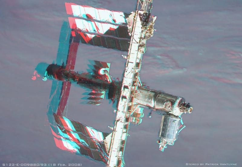 Estación Espacial en estéreo