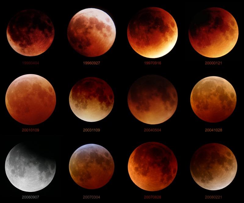 Doce eclipses lunares