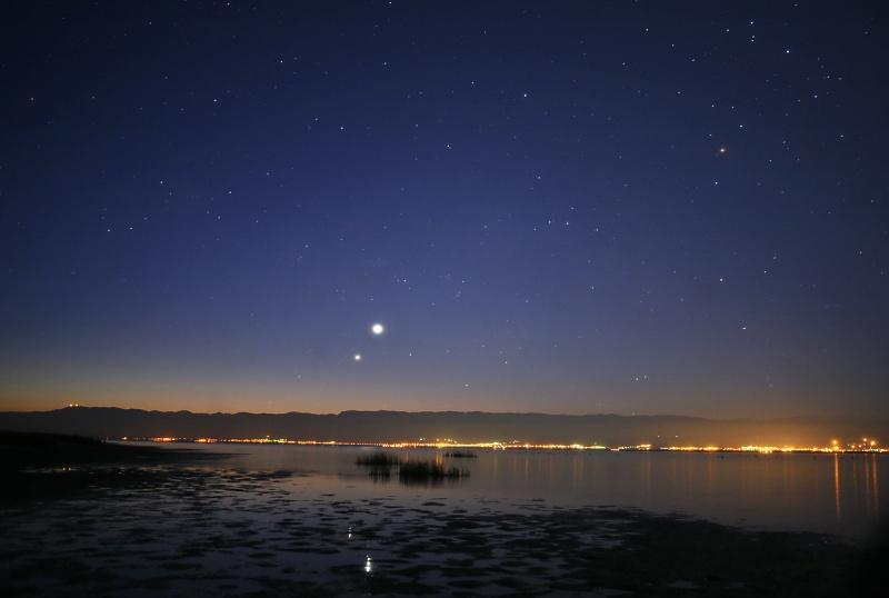 Venus y Jupiter en los cielos matutinos