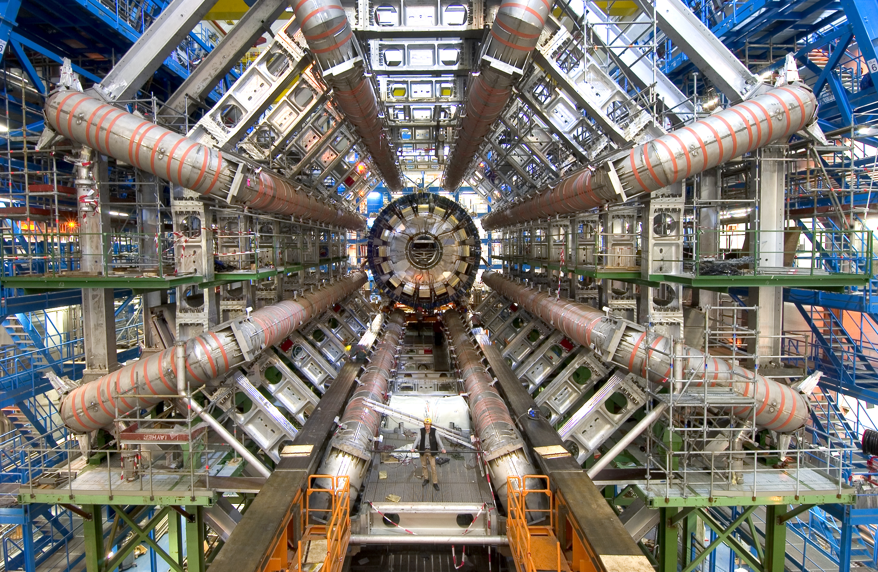 APOD: 2008 February 25 - Dawn of the Large Hadron Collider
