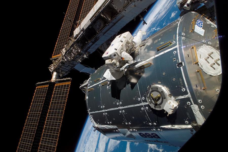 Laboratorio Columbus instalado en la Estación Espacial