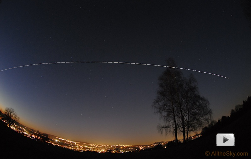 international space station from ground at night - photo #16