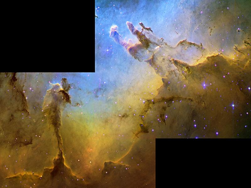 La Nebulosa del Águila en hidrógeno, oxígeno y azufre