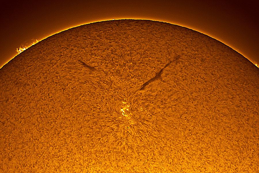 Una mancha en el nuevo ciclo solar