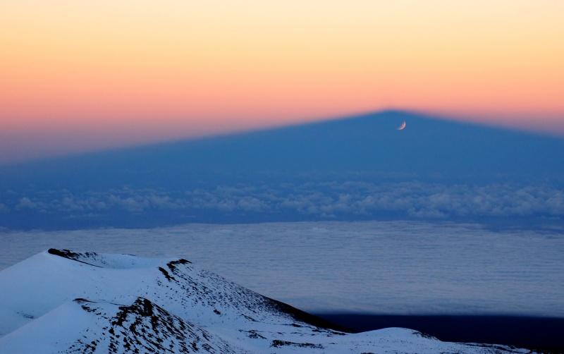 Juego de sombras en el Mauna Kea