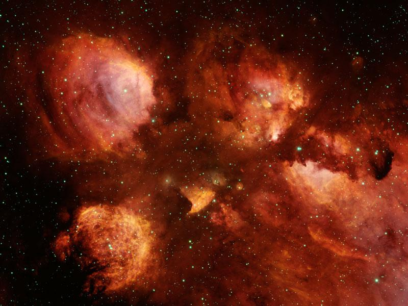 NGC 6334: Nebulosa Garra de Gato
