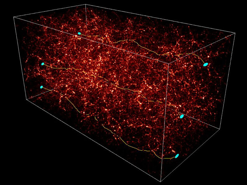 Las lentes débiles distorsionan el Universo