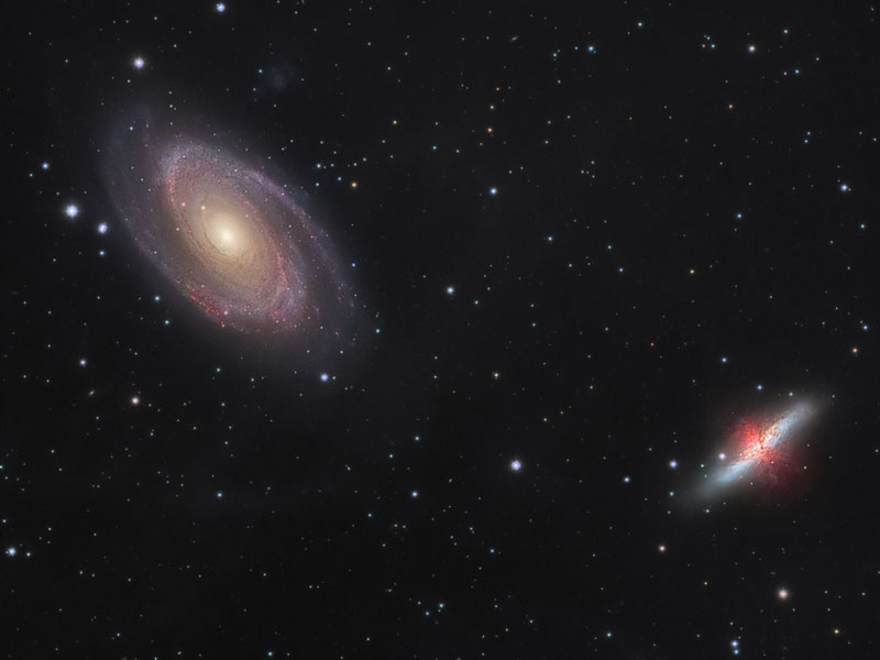 Guerra de galaxias: M81 contra M82