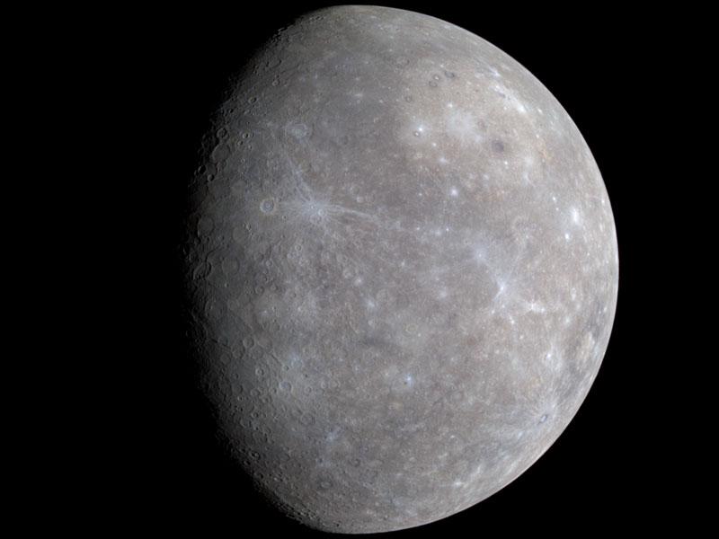 Mercurio en un color acentuado