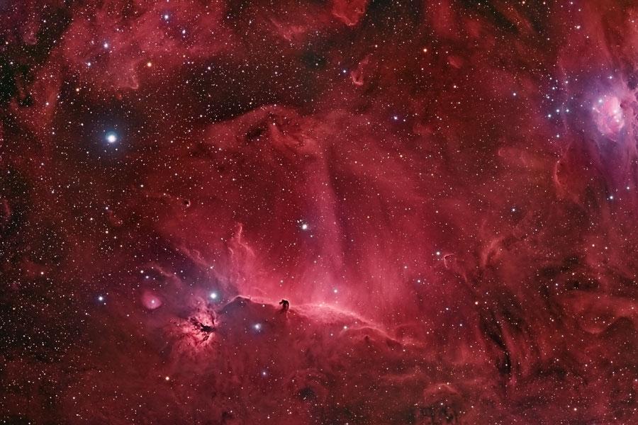 Las espirales alrededor de la nebulosa Cabeza de Caballo