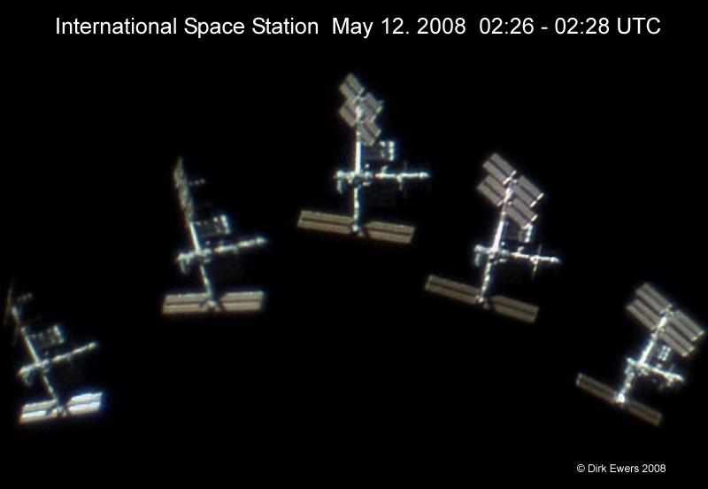 Estación Espacial tomando el Sol