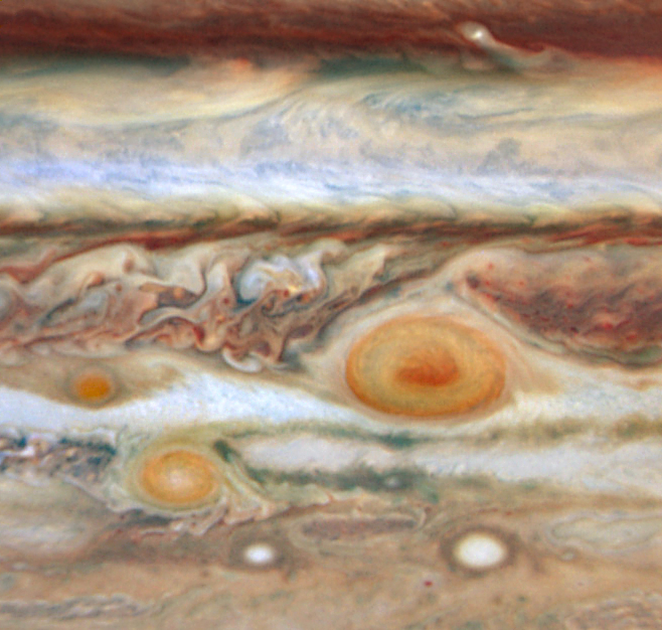 Jupiter's Three Red Spots