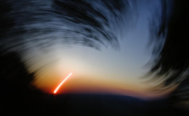 Una vista de la puesta de Sol