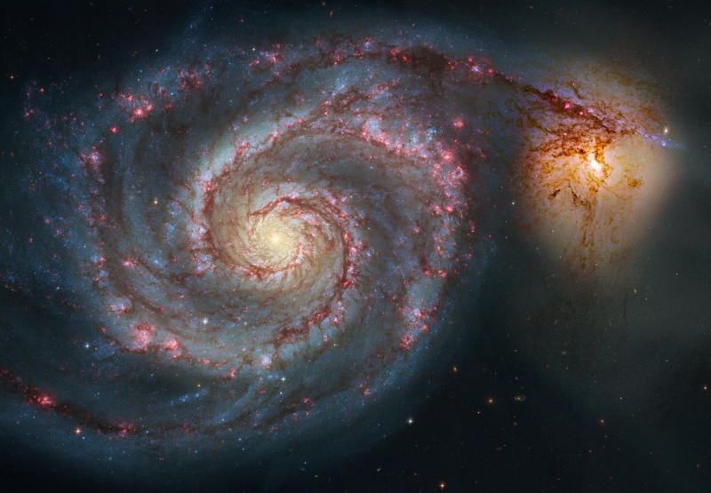 Remix M51 del Hubble