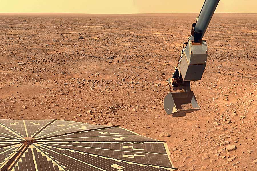 La Phoenix cava en busca de pistas sobre Marte
