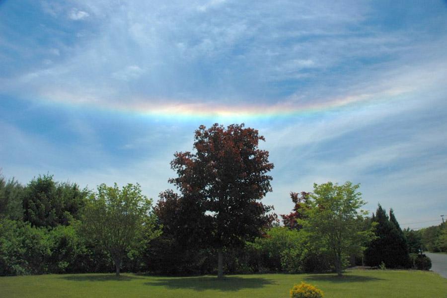 Un arcoiris de fuego sobre Nueva Jersey