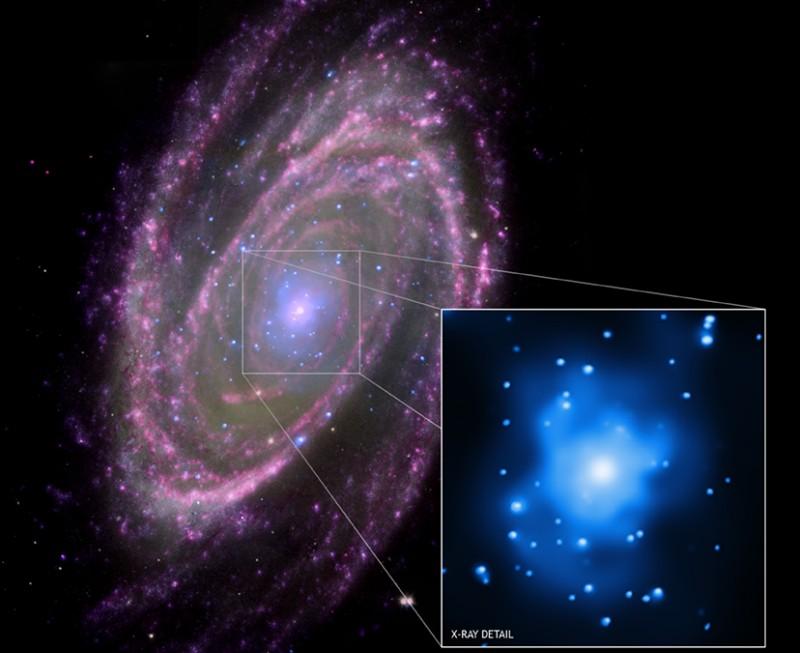 M81: alimentando un agujero negro