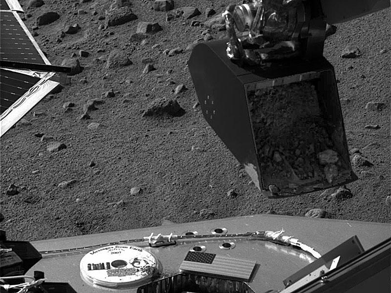 Muestra de tierra marciana lista para analizarse