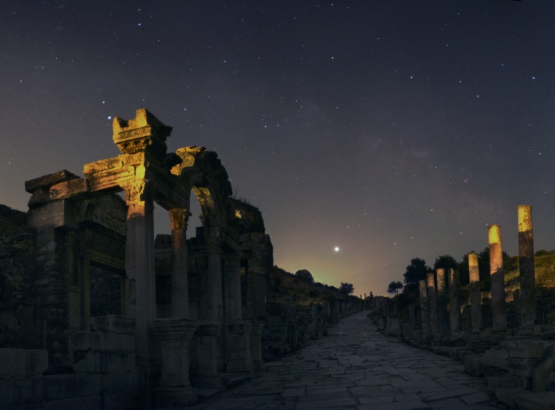 Jupiter Rising Over Ephesus