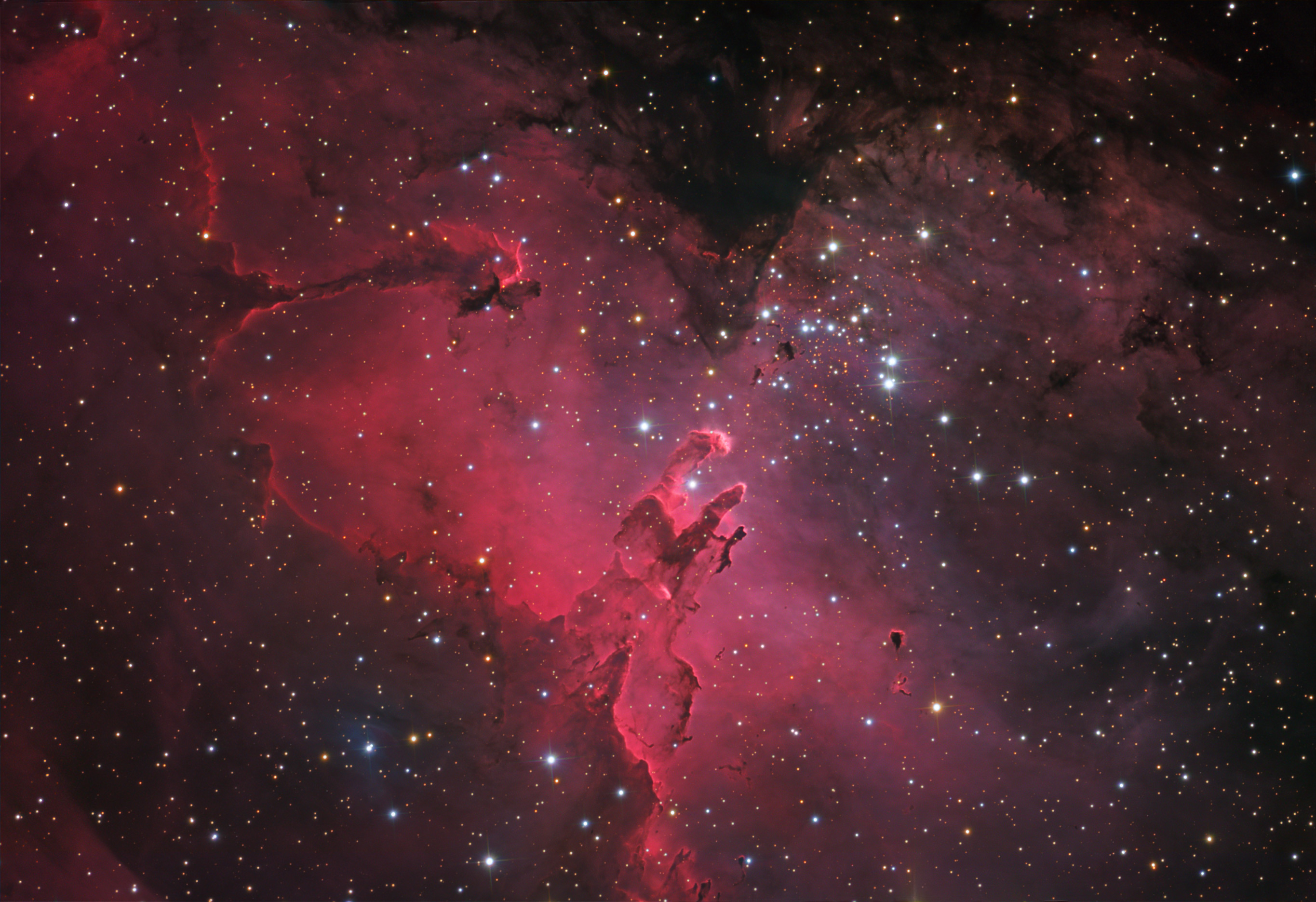 Apod 2008 july 19 m16 and the eagle nebula for Nebula material