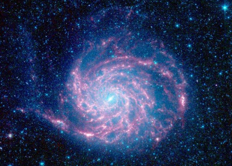 Galaxia M101 desde el Spitzer