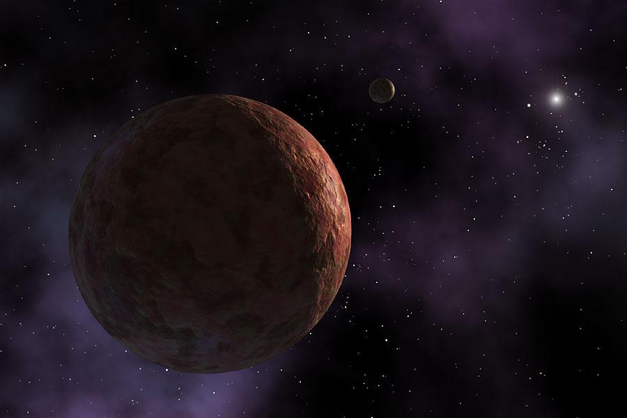 Makemake del Sistema Solar Exterior