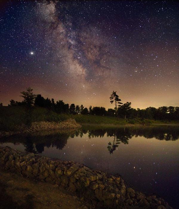 La Vía Láctea sobre Ontario