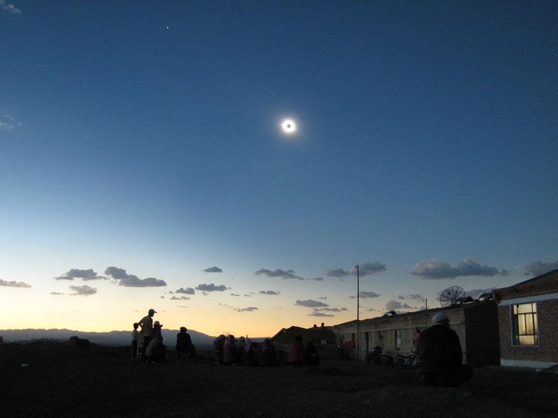 Un eclipse total solar sobre China
