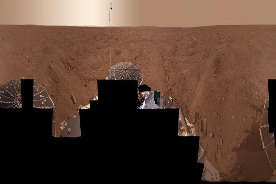 Una panorámica de Marte desde el Phoenix