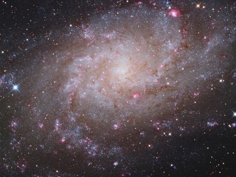 さんかく座の銀河系外星雲M33