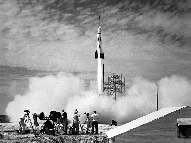 El primer cohete lanzado desde Cabo Cañaveral
