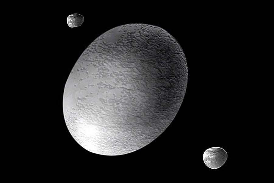 Haumea del Sistema Solar Exterior