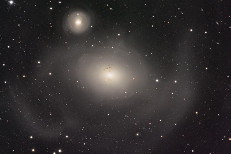 NGC 1316: Tras la colisión de galaxias