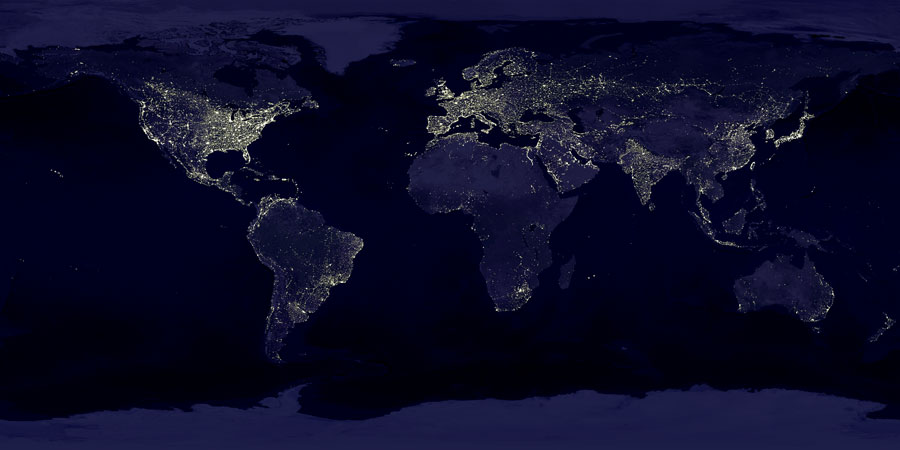 earthlights2 dmsp - ~! Picture Of The Day 12 Oct 08 !~