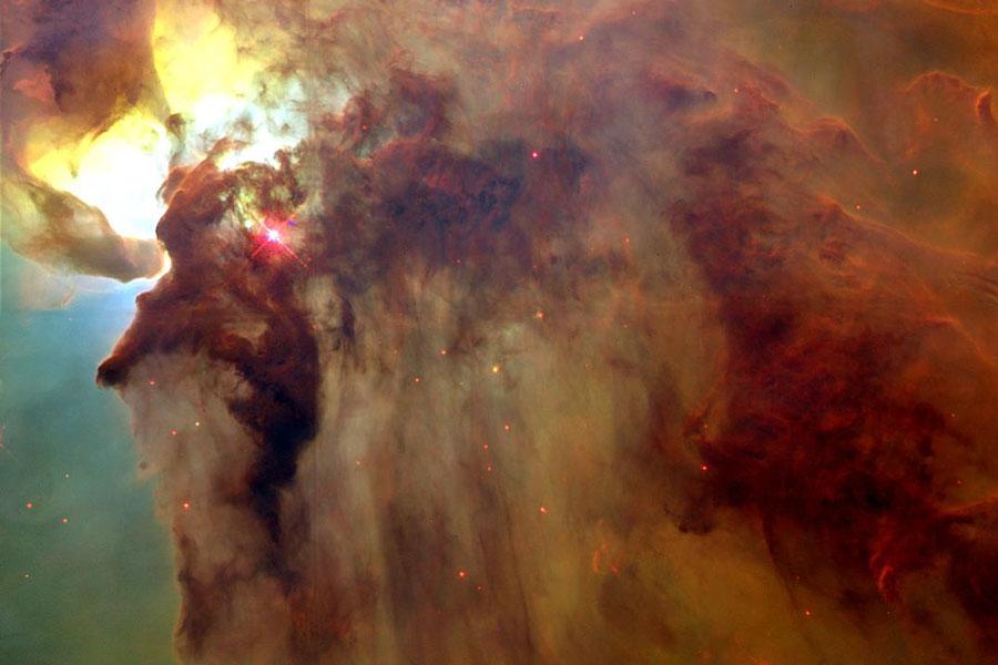 En el centro de la Nebulosa de la Laguna