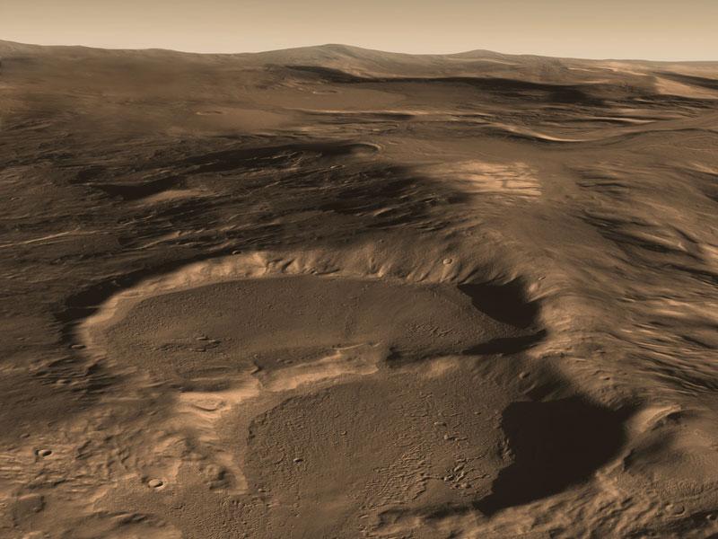 El radar muestra glaciares enterrados en Marte
