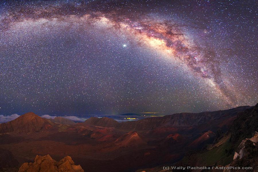 La Vía Láctea sobre Mauna Kea