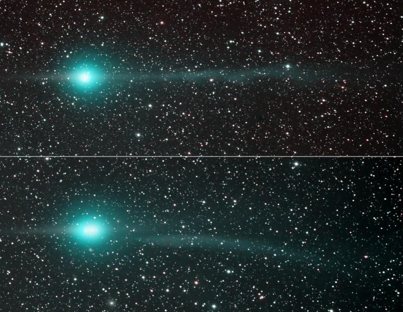Las colas del Cometa Lulin
