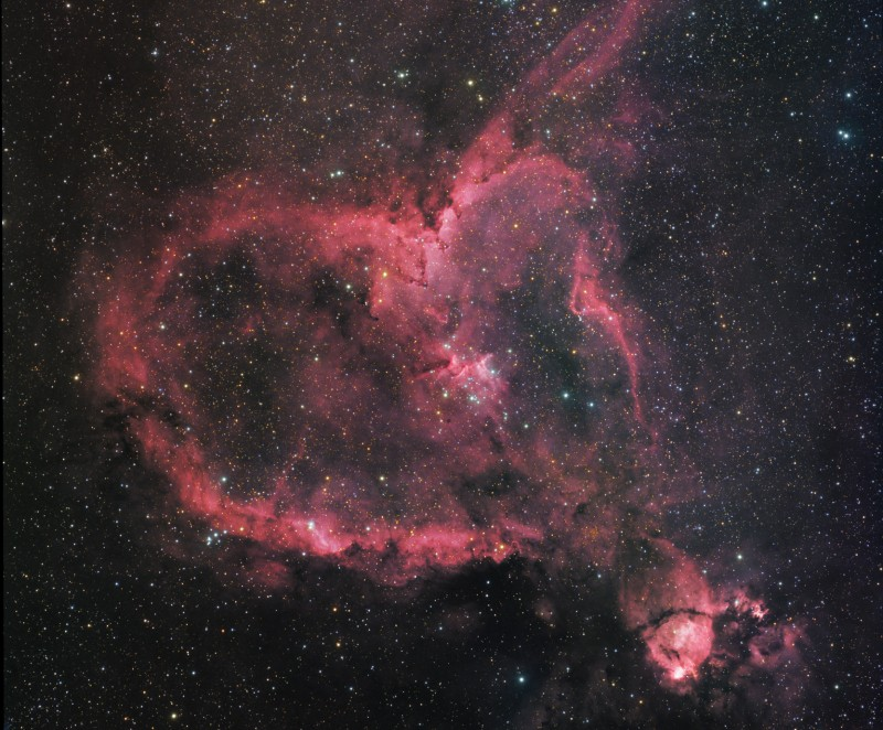 APOD: 2009 February 14 - IC 1805: The Heart Nebula