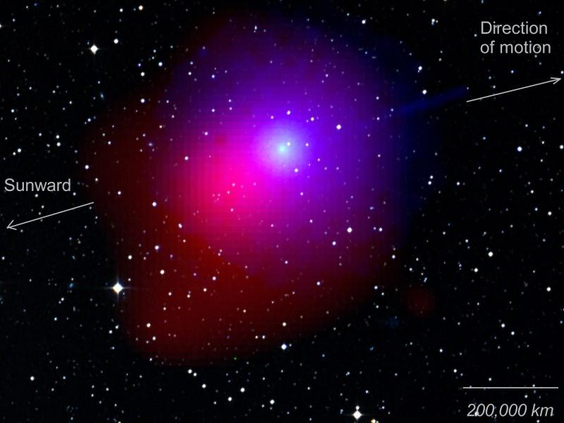 La visión desde el Swift del cometa Lulin