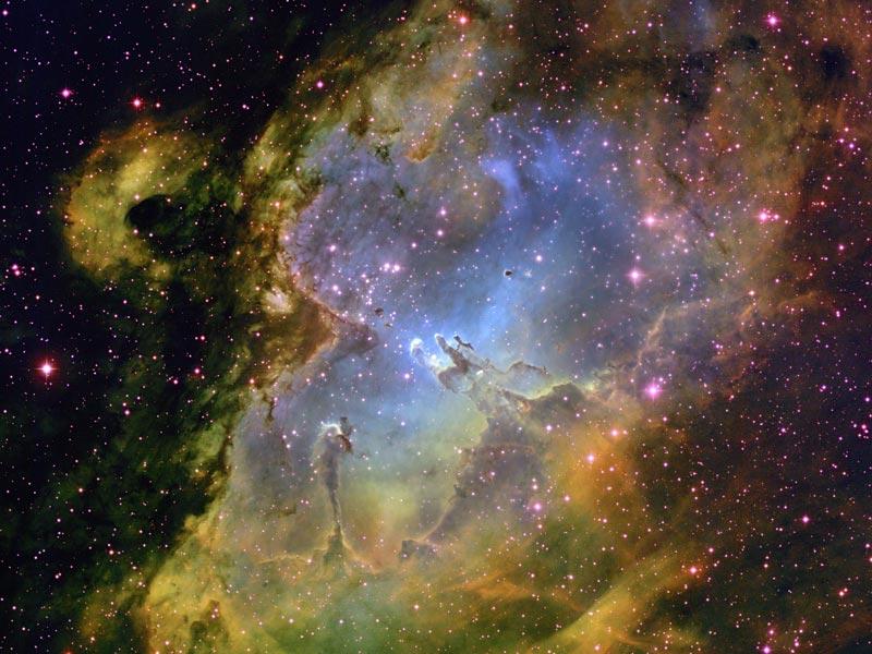 Dentro de la Nebulosa del Águila