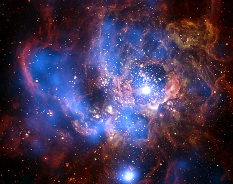 NGC 604: rayos X de una gigante guardería estelar
