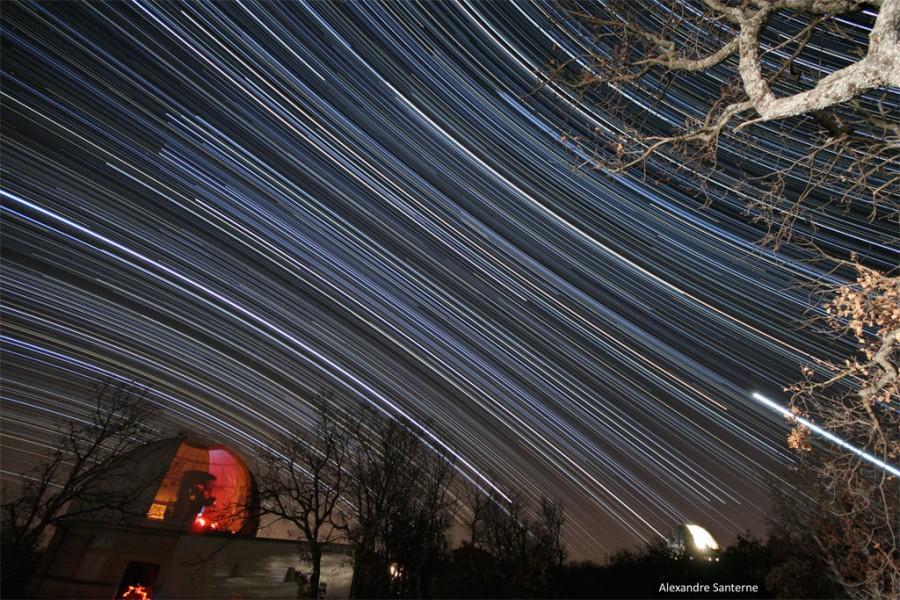 Estelas de estrellas en Haute-Provence